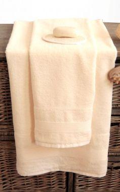 Bambusový ručník světle žlutý Sari