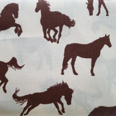 Koně bavlna č.D61 cena za 1 metr