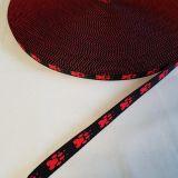 Popruh tlapky červené 1,5cm šíře