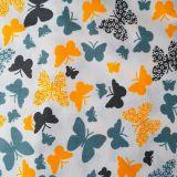 Bavlna motýli č.123 cena za 1 metr
