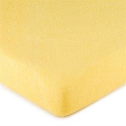 Prostěradlo FROTÉ 90x200  sv.žlutá