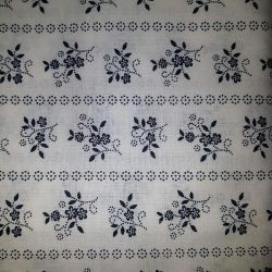 Bavlna květy na bílé č.15