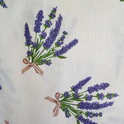 Bavlna levandule na smetanové č.7