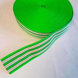 Popruh zelené pruhy 6 cm šíře