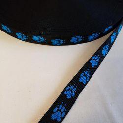 Popruh tlapky modré 2,5cm šíře