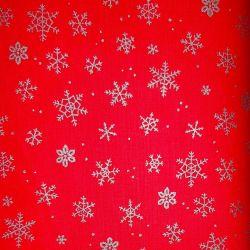 Bavlna vánoční vločky stříbrné č.V10 cena za 1 metr