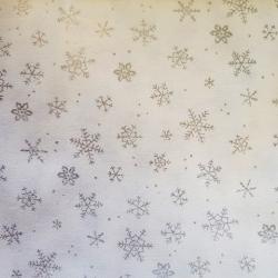 Bavlna vánoční vločky stříbrné č.V12 cena za 1 metr