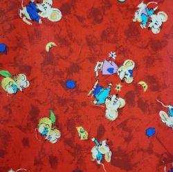 Myšky červené bavlna č.D24