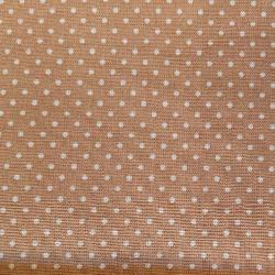 Béžový puntík bavlna č.36 cena za 1 metr