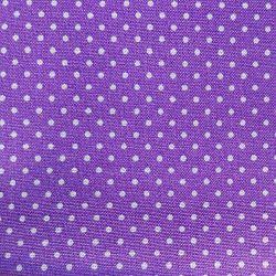 Fialový puntík bavlna č.38 cena za 1 metr