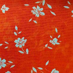 Oranžové kytičky bavlna č.46 cena za 1 metr