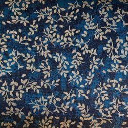 Modré lístky bavlna č.49 cena za 1 metr