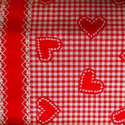 Červené srdce bavlna č.56 cena za 1 metr