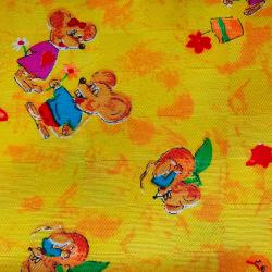 Žluté myšky bavlna č.D33