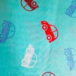 Autíčka modrá bavlna č.D37