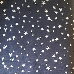 Hvězdičky na modré bavlna č.82