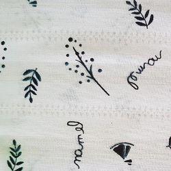 Rostliny na bílé bavlna č.93 cena za 1 metr