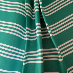 Lehátkovina šíře 45cm - zelenobílý proužek slabý