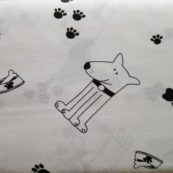Psi černobílá bavlna č.103 cena za 1 metr