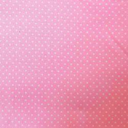 Bavlna růžová puntík jemný č.115 cena za 1 metr