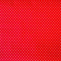 Bavlna červená puntík jemný č.116 cena za 1 metr