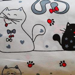 Kočky velké bavlna č.D63 cena za 1 metr