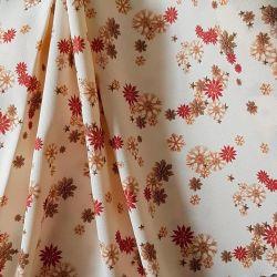Bavlna vánoční ozdoby slaměné červená č.V21 cena za 1 metr
