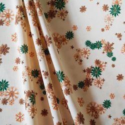 Bavlna vánoční ozdoby slaměné zelená č.V22 cena za 1 metr