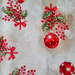 Bavlna vánoční koule č.V20 cena za 1 metr