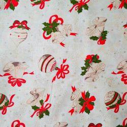 Bavlna vánoční jmelí č.V26 cena za 1 metr