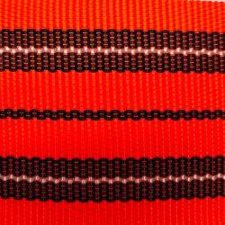 Popruh oranž pruhy 6 cm šíře