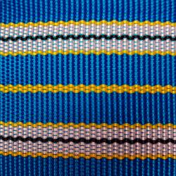 Popruh modré pruhy 6 cm šíře