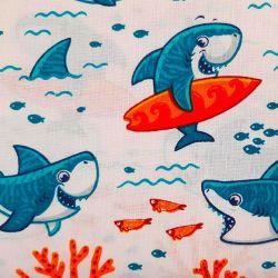Žraloci bílí bavlna č.D71 1 metr