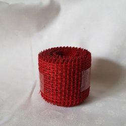 Jutová stuha červená