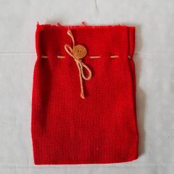 Jutový pytlík červený