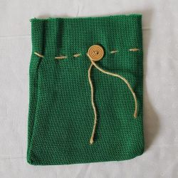 Jutový pytlík zelený