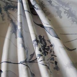 Zatemňovací látka šedé květy