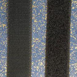 Suchý zip černý 2,5cm metráž