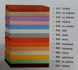 Prostěradlo JERSEY 100x200 oranž