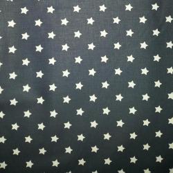 Bavlna bílé hvězdičky na modré č.1