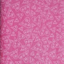 Bavlna Srdce růžová D7